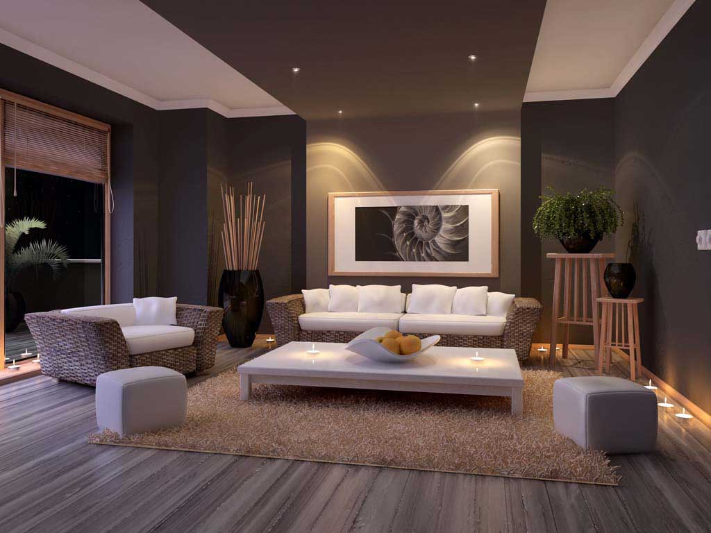 Living room with light design